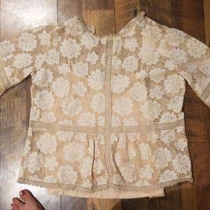 Sheer flouncy blouse